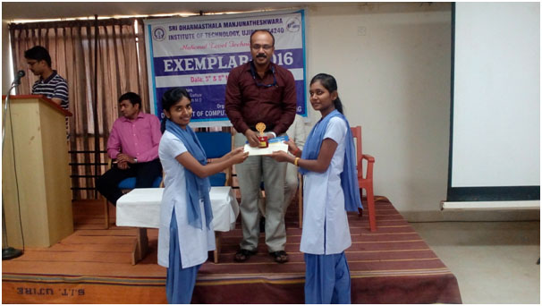 III Prize Team - from left: Sumitha Suresh, HOD of CSE