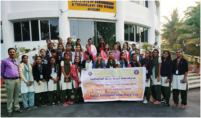 Photograph of Students and coordinators in front of GSSSIET