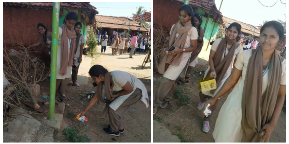 Photograph of students involved in cleaning process | GSSSIETW
