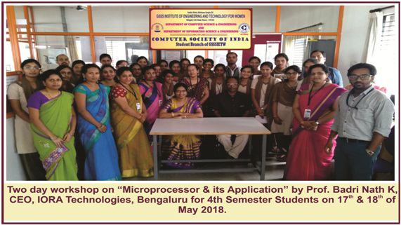 Two Day Workshop on Microprocessor  Its Application
