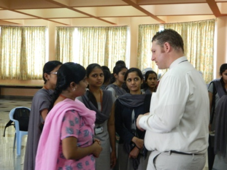 Mr. Brook Fox, Visa Officer with the students of GSSSIETW