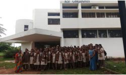 One day industrial visit to ACE COMPONENTS, Hootgalli, Mysuru, which was conducted for VI Semester students on 26th September 2017.