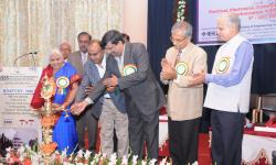Inauguration of the International Conference ICEECCOT- 2016 by the Honorary Chair Dr. Krishnaraj Madhavjee Sunjiv Soyjaudh and the Special Guest of Honor Hon'ble Vice Chancellor, VTU, Belagavi  Dr. Karisiddappa