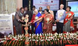 Inauguration of the International Conference ICEECCOT- 2016 by Smt Vanaja B Pandit, Hon. Secretary GSSS(R), Dr. Sumithra K.A - Principal GSSSIETW, Mysuru and Sri B V Srinivasa Guptha Vice President GSSS(R)