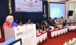 Addressing the gathering by Hon. Secretary Smt Vanaja B Pandit