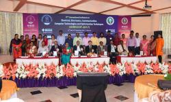 Participants and diginitaries during inaugral function of ICEECCOT-2017 on 15th December 2017