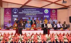 Session Chair and Dignitaries on the 2nd day of the conference