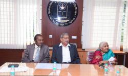 Dignitaries with Smt. Vanaja B Pandit, Hon. Secretary, GSSS(R), Mysuru